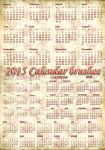 2015 Calendar brushes by auRoraBor