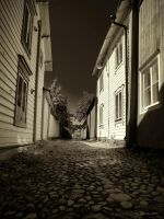 Back Alley in Porvoo by Pajunen