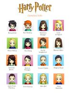 Harry Potter Characters by TheMagicianLord