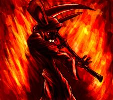 Reaper bunny v2 with fire hehe by Zimode