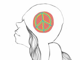 peace hat by ImagineArtVibes