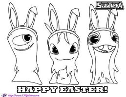Happy Easter Slugterra Coloring Page by SKGaleana  by SKGaleana