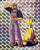 Lemone and ampharos by leomon32
