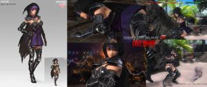 Dead or Alive 5 Ayane DLC Concept Art by W-E-Z