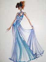 Passion Blue evening gown by AlexioLex