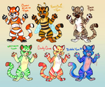 Cheap Tiger Adoptables! by GhettoRainbowCat