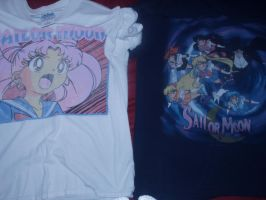 Vintage Sailor Moon T shirts part one by KittyChanBB