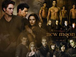 New Moon Wallpaper by whoisthatgirl