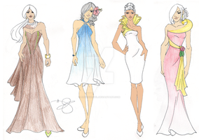 CC: Points Bomb Evening Wear Mini Collection by ArtSquirrel