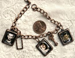 Doctor Who 9th 10th 11th Copper Charm Bracelet by elllenjean