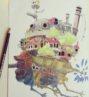 howl's moving castle by momovvip