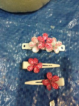 Flower clips by Leanneisme