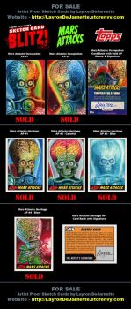 Mars Attacks Sketch Cards (SOLD OUT) by DeJarnette