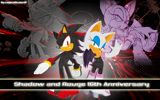 Wallpaper Special Anniversary :: Shadow and Rouge by LegendQueen01