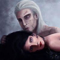 Geralt and Yennefer by InsomniaTSO