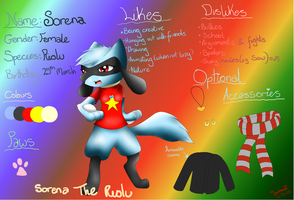 Sorena the Riolu ref by pokemonlover5673