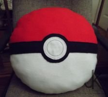 Pokeball Pillow by justjenny322
