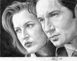 Mulder and Scully- Finished by ratgirl84