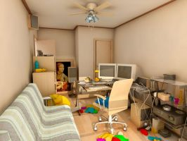 Mental Ray Maya Howard B. Room by withego