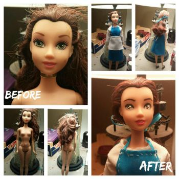 Repainted Belle Doll by haunted72194