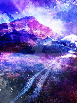 Abstract Mountain Landscape by jacqui-kate