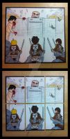 LEGO Attack on Titan sketchcards by thesometimers
