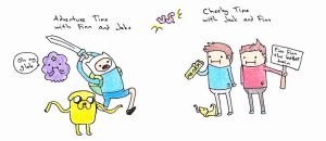 Cheeky Adventure Time by Elen93