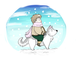 Sled Dog Ride by Sheyff