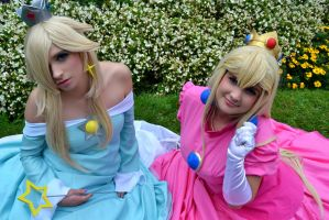 Princess Peach and Rosalina .:. 0.3 by oOCaramellOo