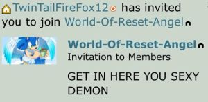 Got an invitation to a group from a bestie like-- by KurobaFox1412