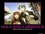 Holo and Lawrence Demotivational by Gollum123