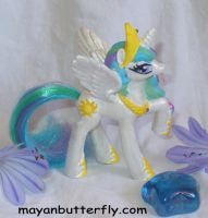 Princess Celestia Custom Pony by mayanbutterfly