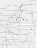 My first attempt at Yaoi - paper drawing by tdimodel6