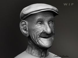Old man' Bright Smile by nhsubhash