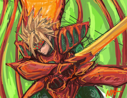 Legend of Dragoon Dart Speedpaint by bulletproofturtleman