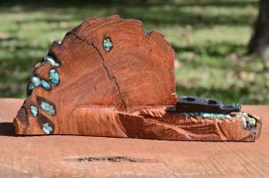 Mesquite and Ebony Pencil Holder by lamorth-the-seeker