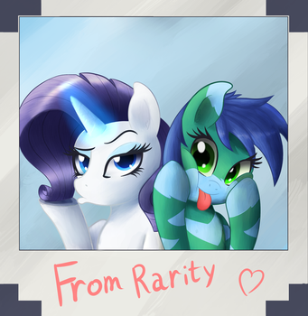 Selfies with Rarity by Breakdream