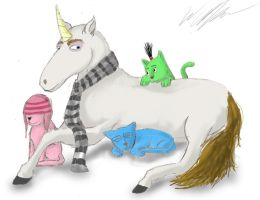 Unicorn and Keetens by wolfgrl1492