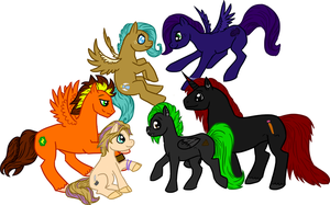 Friends MLP-ified by Free-Fall-Angel