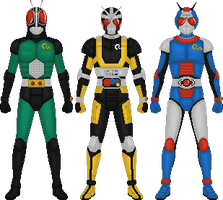 Kamen Rider Black RX by Taiko554