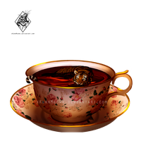 Living in a tea cup by xKurrMeowx