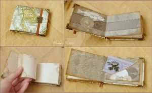 One more steampunk notebook/sketchbook by IkushIkush