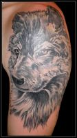 Wolf cover tattoo by xandervoron