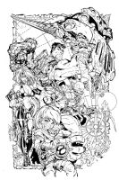 J Scott Campbell Battle Chasers Inks by Fendiin