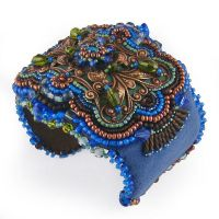 Bead Embroidered Cuff by Beadmask