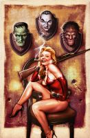 The Huntress - Print by Valzonline