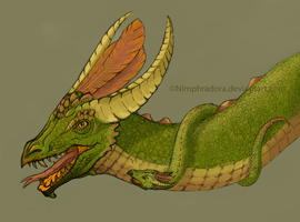 Rainforest dragon by Nimphradora