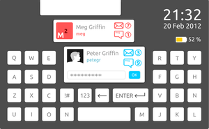 Touchpad keyboard (mock up) by karagorge
