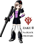 ZAKU 2 GIRL by redcomic