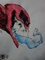 Dead Pool Simbionte by Painter-One